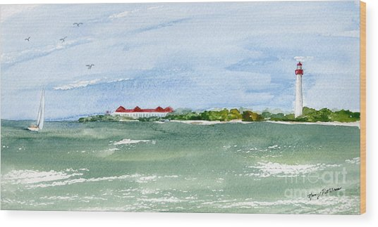 A Clear Day At Cape May Point  Wood Print