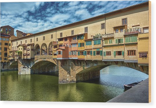 A Closer Look To Ponte Vecchio Wood Print