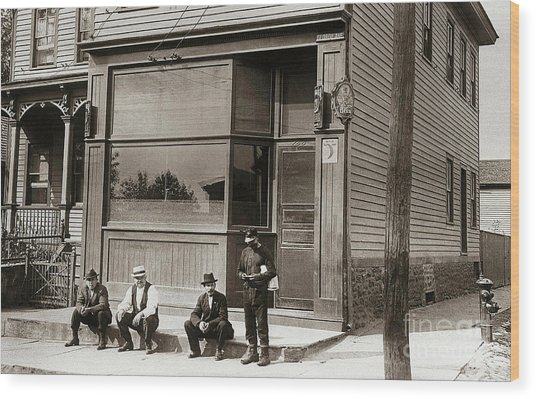 A Coal Miners Bar  George Ave Parsons Pennsylvania Early 1900s Wood Print