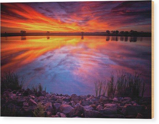 A Colorado Birthday Sunrise Wood Print