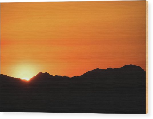 A Colorado Sunset Wood Print