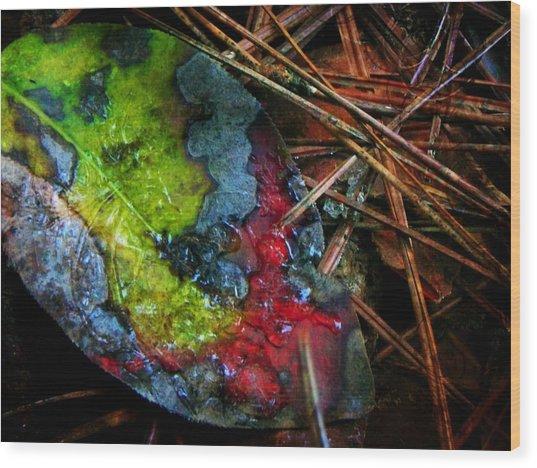 A Colorful Death Wood Print