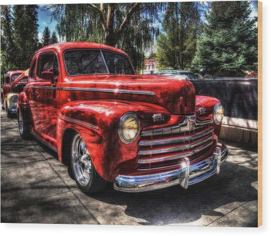 A Cool 46 Ford Coupe Wood Print