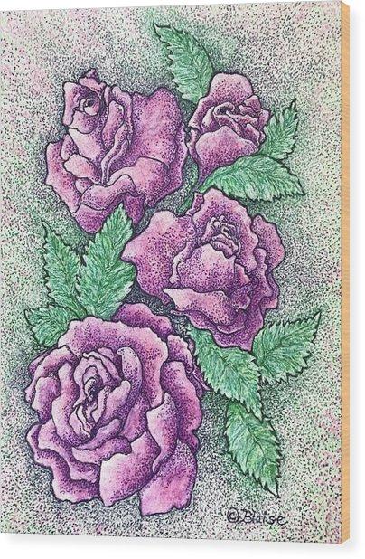 Lo, How A Rose Wood Print
