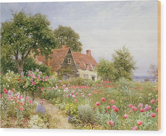 A Cottage Garden Wood Print