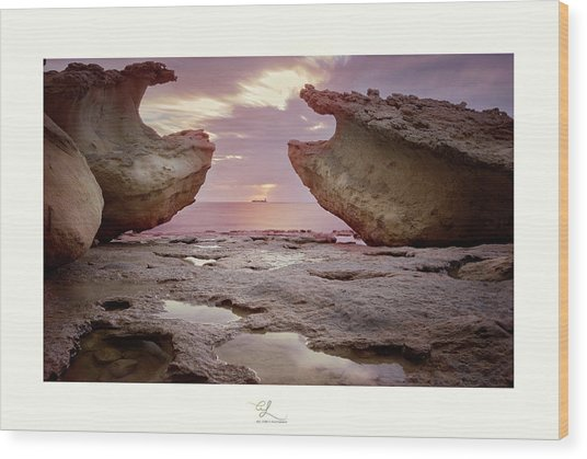 A Crab Stone, By The Cosmic Joker Wood Print