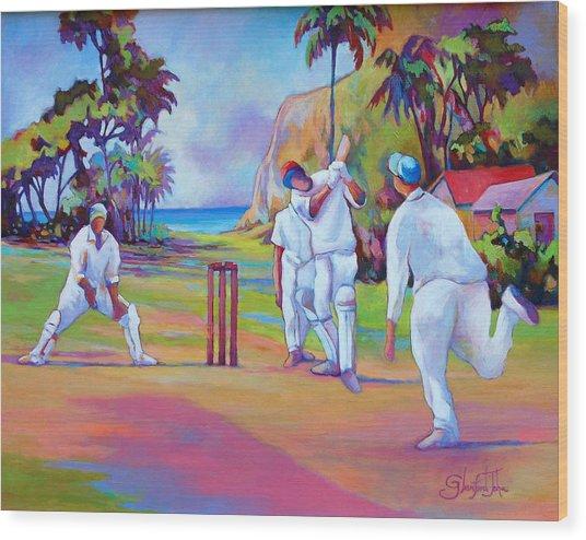 A Cricket Game Wood Print