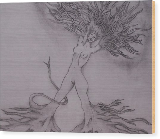 A Dance With The Wind Wood Print by Erin Hope