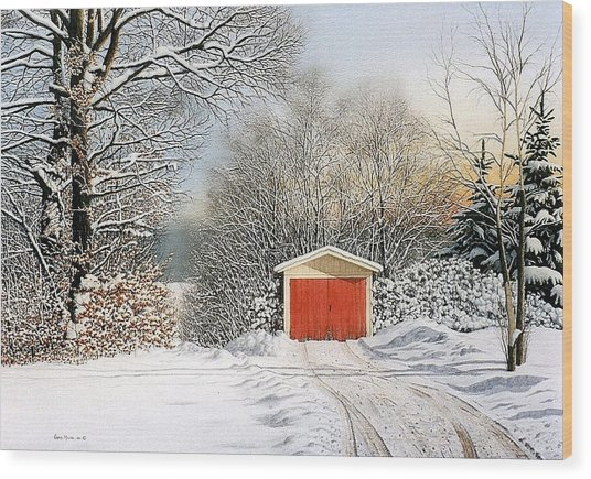 A Day In December Wood Print by Conrad Mieschke