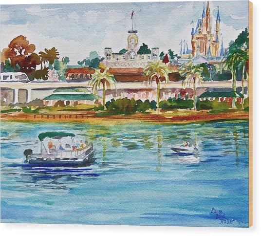 A Disney Sort Of Day Wood Print