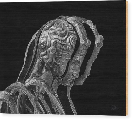 A Divided Mind Wood Print