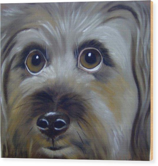 A Dog's Love Wood Print