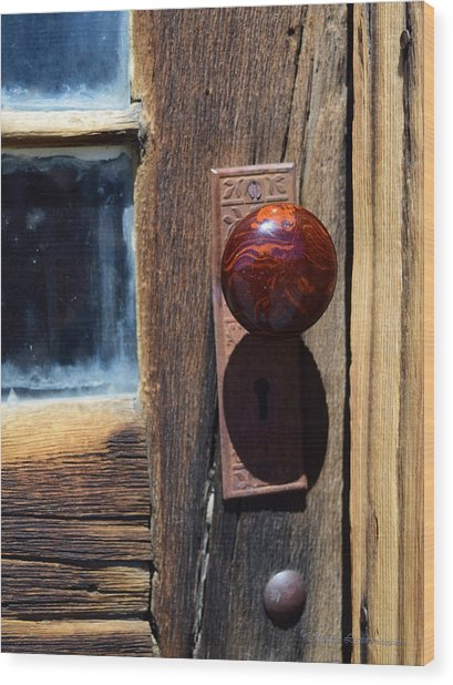 A Door To The Past Wood Print