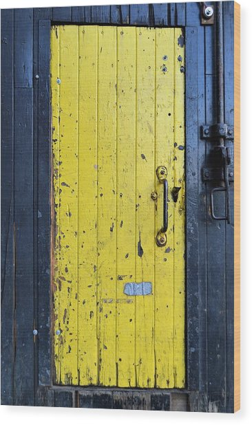 A Door Within A Door Wood Print