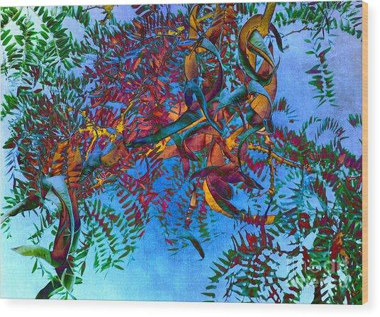A Fabric Of Illusion Wood Print