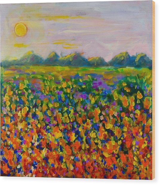 A Field Of Flowers #1 Wood Print
