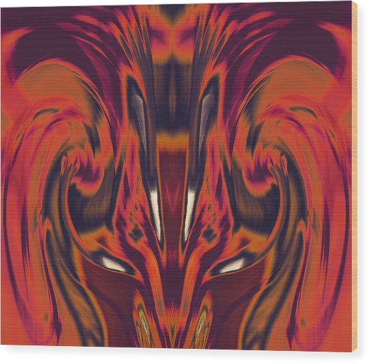A Firebird Emerged From Your Equanimity 2015 Wood Print by James Warren