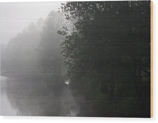 A Foggy Morning In Pennsylvania Wood Print