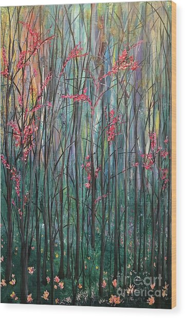 A Forest Wood Print by Heather McKenzie