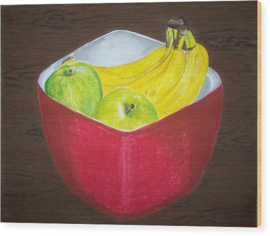 A Fruit A Day Wood Print by Sanchia Fernandes