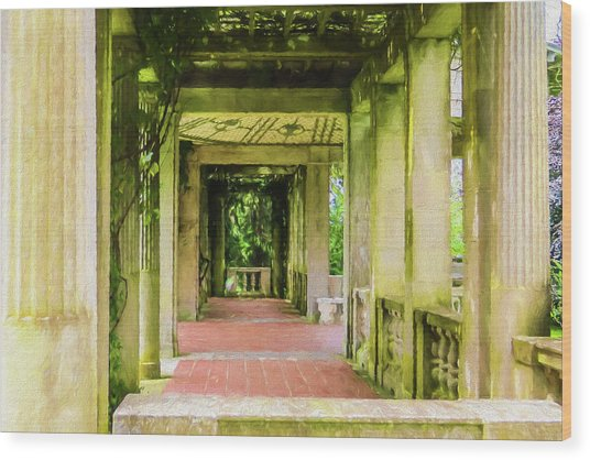 A Garden House Entryway. Wood Print