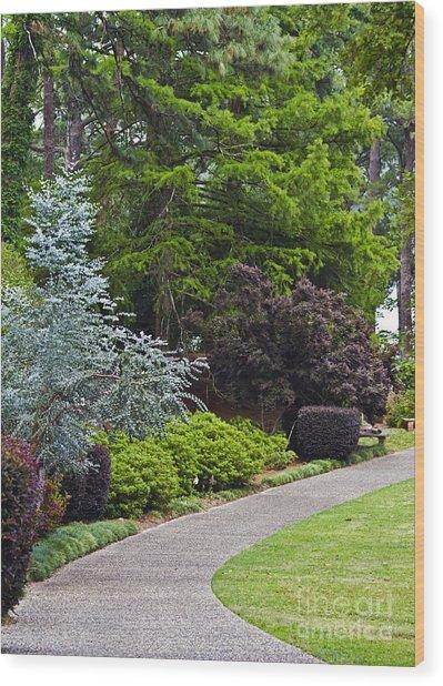 A Garden Walk Wood Print