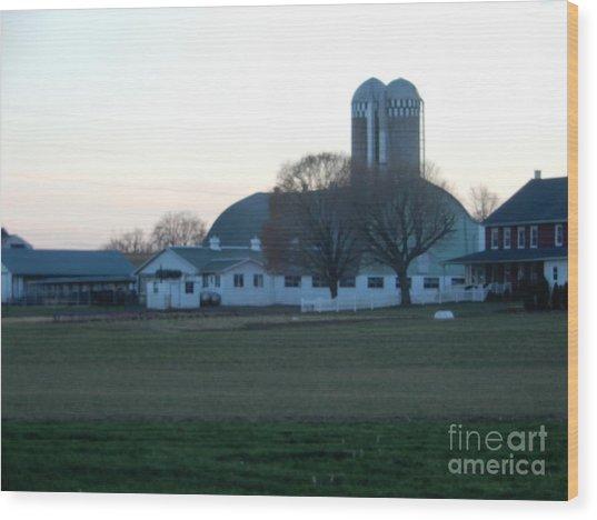 A Glorious Amish Evening Wood Print