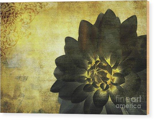 A Golden Heart Wood Print