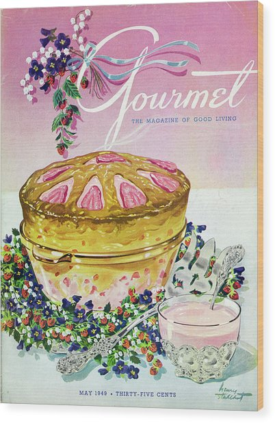 A Gourmet Cover Of A Souffle Wood Print