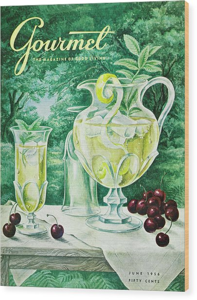 A Gourmet Cover Of Glassware Wood Print