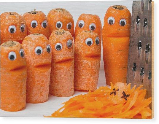 A Grate Carrot 2. Wood Print