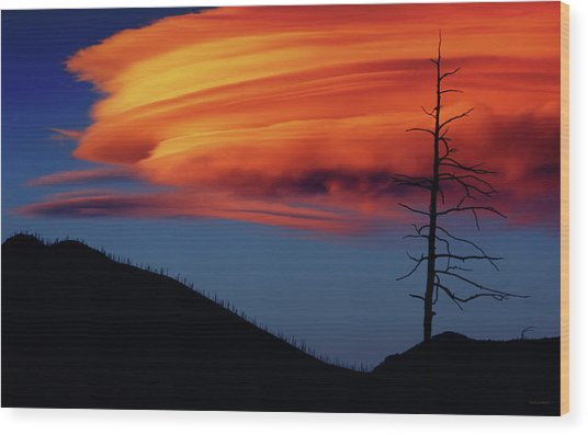 A Haunting Sunset Wood Print