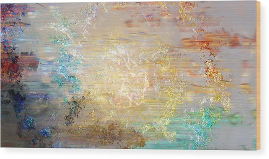 A Heart So Big - Custom Version 4 - Abstract Art Wood Print