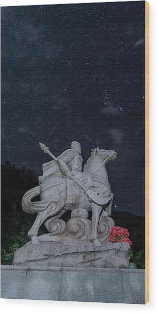 Wood Print featuring the photograph A Hero's Starscape by William Dickman