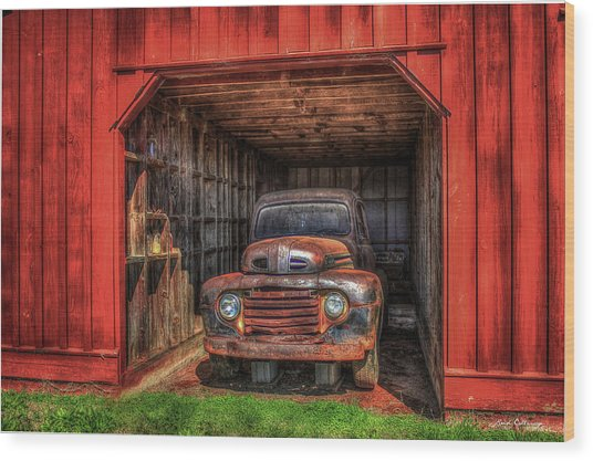 A Hiding Place 1949 Ford Pickup Truck Wood Print