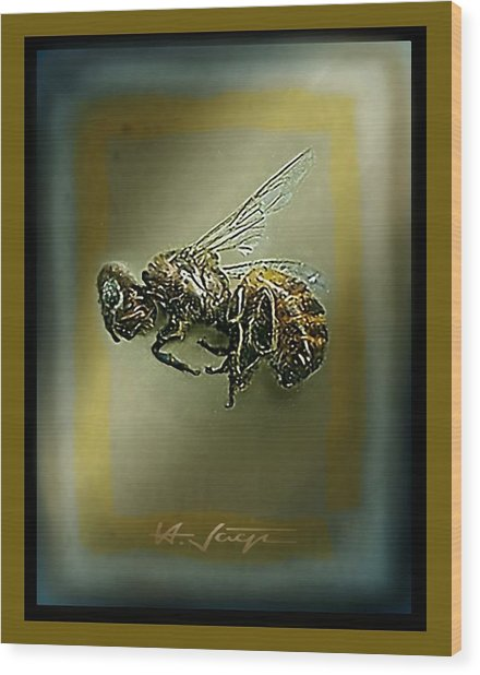 A Humble Bee Remembered Wood Print