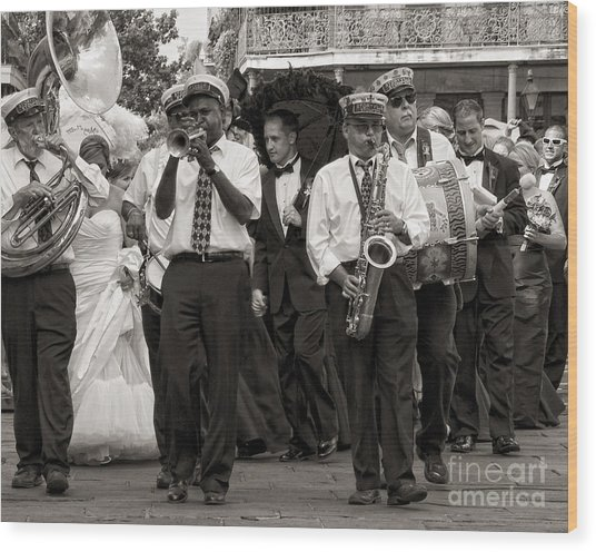 A Jazz Wedding In New Orleans Wood Print