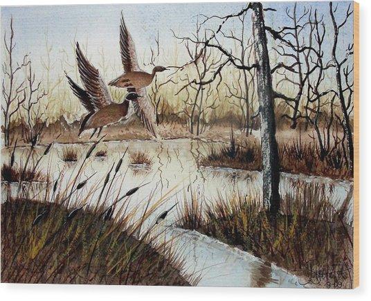 A 'jerry Yarnell' Study Wood Print