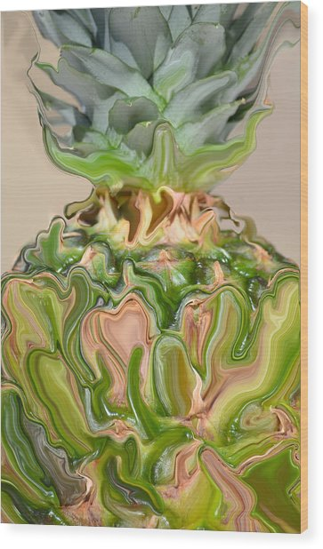A Juiced Pineapple.. Wood Print