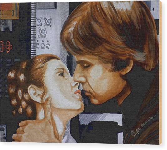 A Kiss From A Scoundrel Wood Print