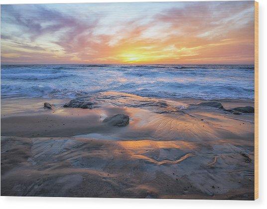 A La Jolla Sunset #1 Wood Print