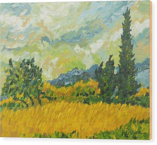 A La Van Gogh Wood Print