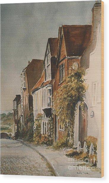 A Lane In Rye Wood Print