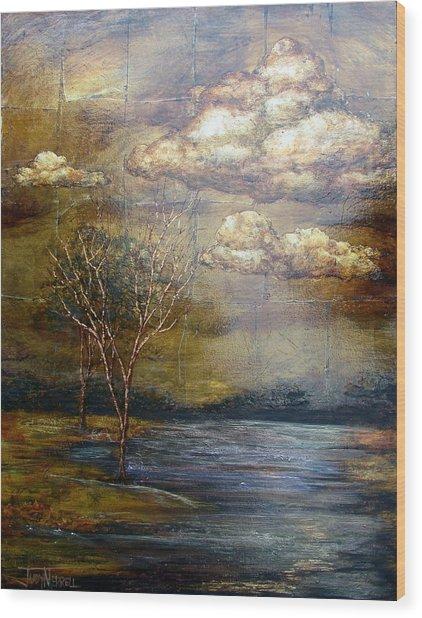 A Light Sheen Wood Print by Judy Merrell