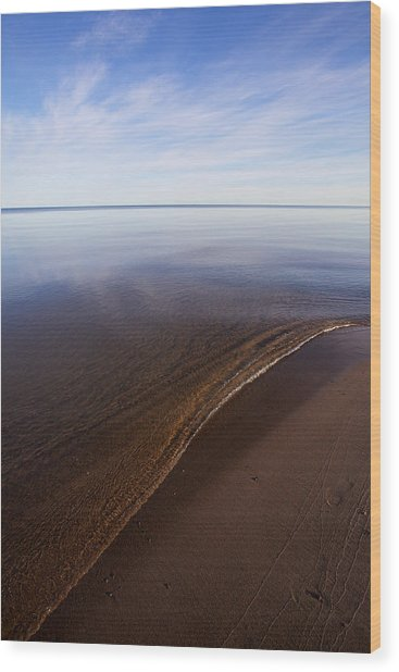 Wood Print featuring the photograph A Little Lip, Lake Superior by Jane Melgaard