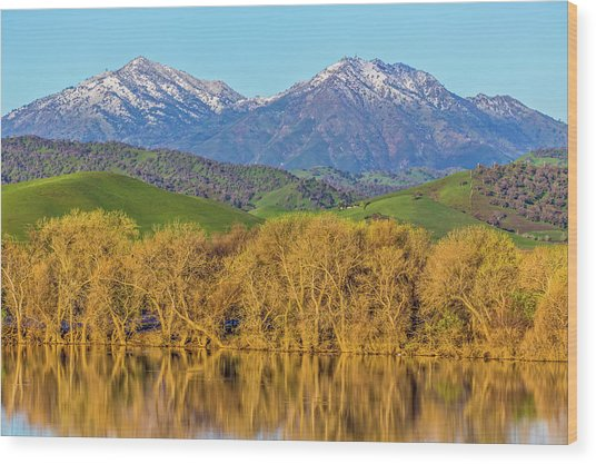 A Little Snow On Mt. Diablo Wood Print