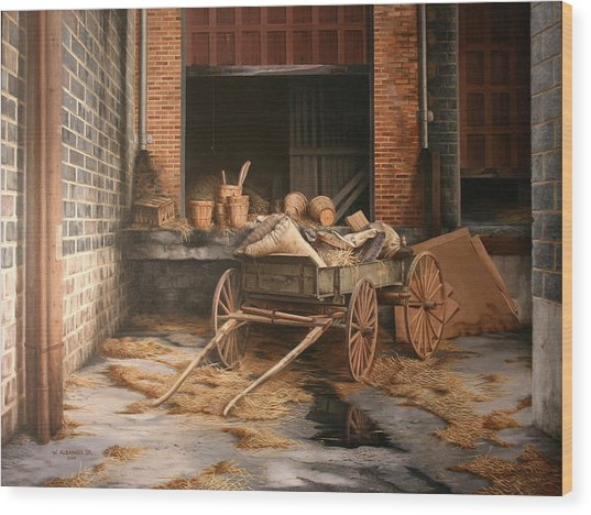 A Look At The Past Wood Print