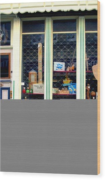 A Lovely Little Quaint Shop Wood Print by Jez C Self