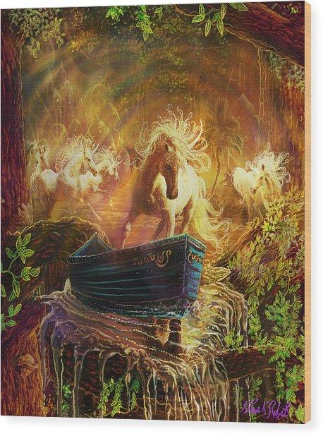 A Magical Boat Ride Wood Print