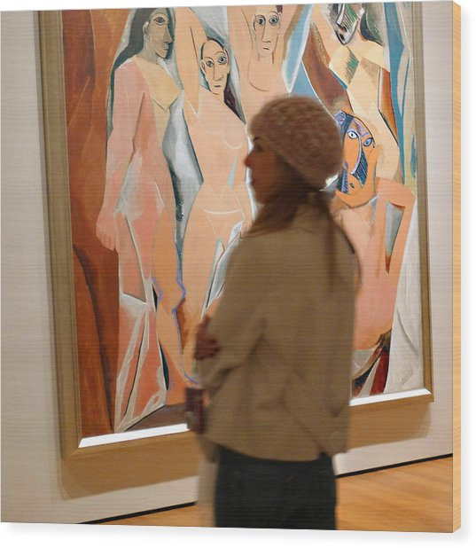 A Maid And Les Demoiselles D'avignon Wood Print by Frank Winters